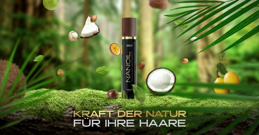 Haaröl Nanoil für die Haare mit normaler Porosität